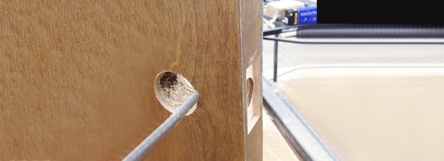 Установка дверного замка с разработкой посадочного места