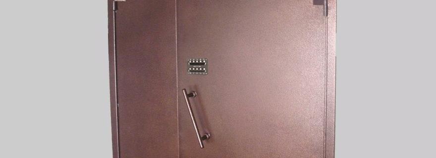 Установка кодового замка на металлическую дверь