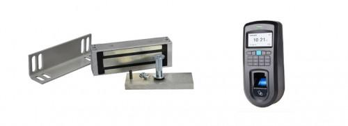 Комплект электромагнитного замка биометрический с установкой