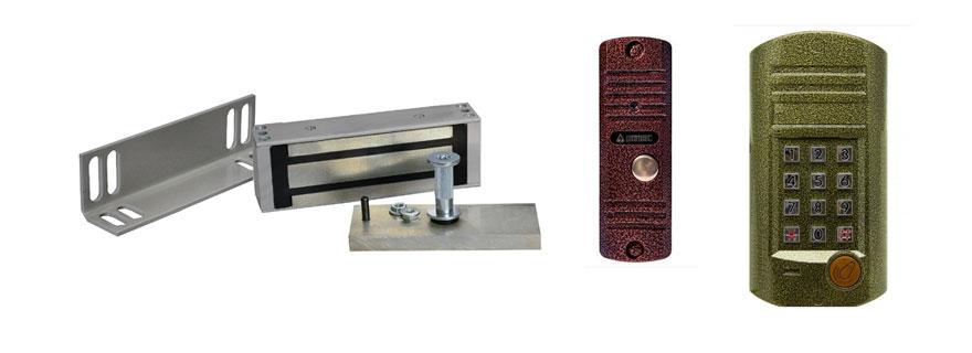 Комплект электромагнитного замка с аудио домофоном