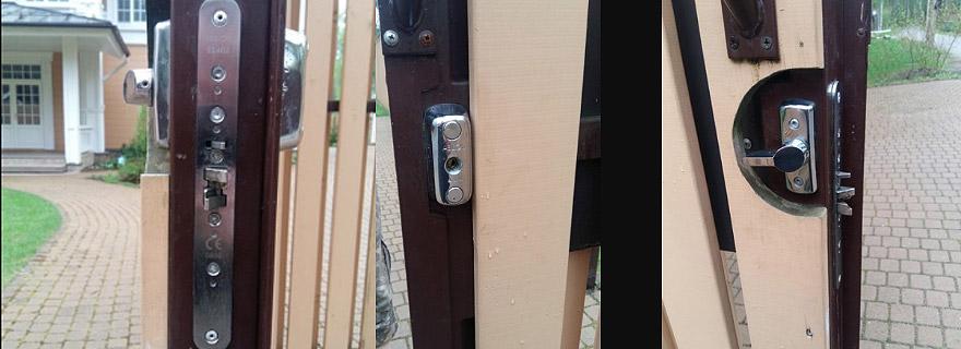 Замена врезного замка в металлической двери